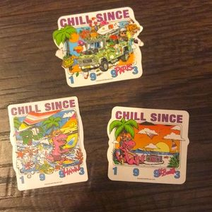 Brandy Melville Chill since 1993 sticker pack of 3